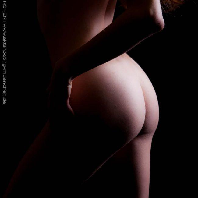 Rücken Bodypart bei Akt-Fotoshooting in München