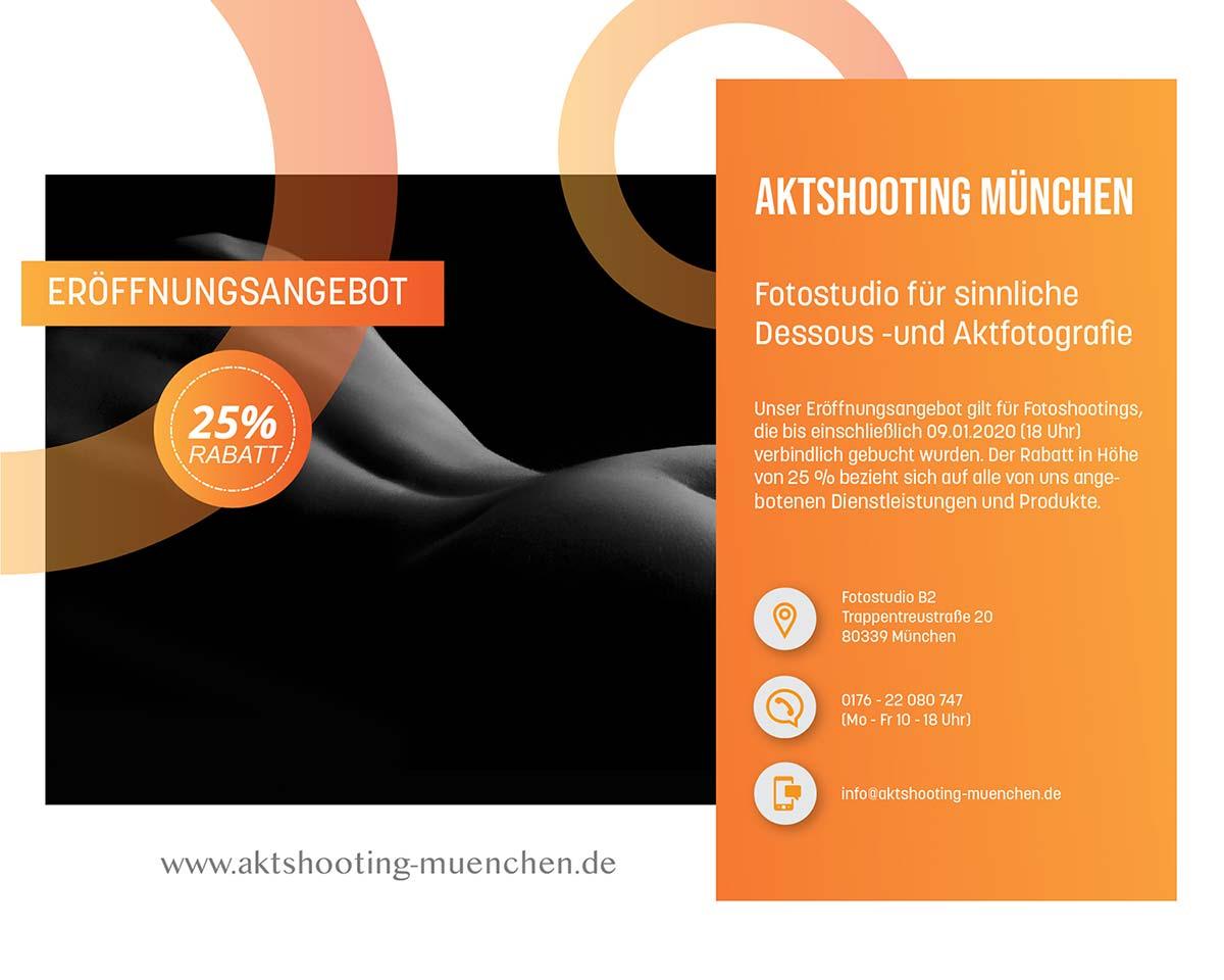 Eröffnungsfeier Fotostudio Aktshooting München