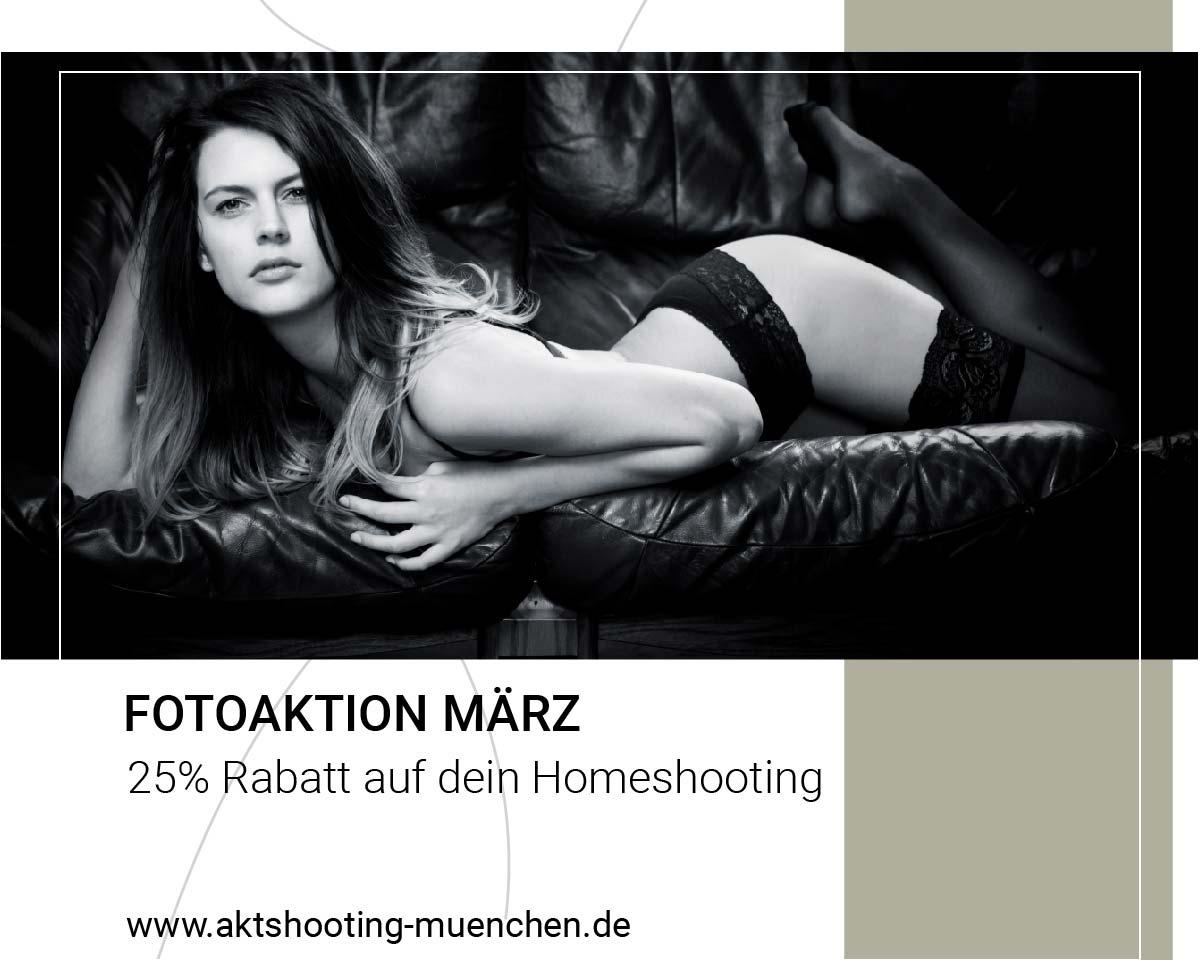 Flyer Fotoaktion März für Akt-Homeshooting München