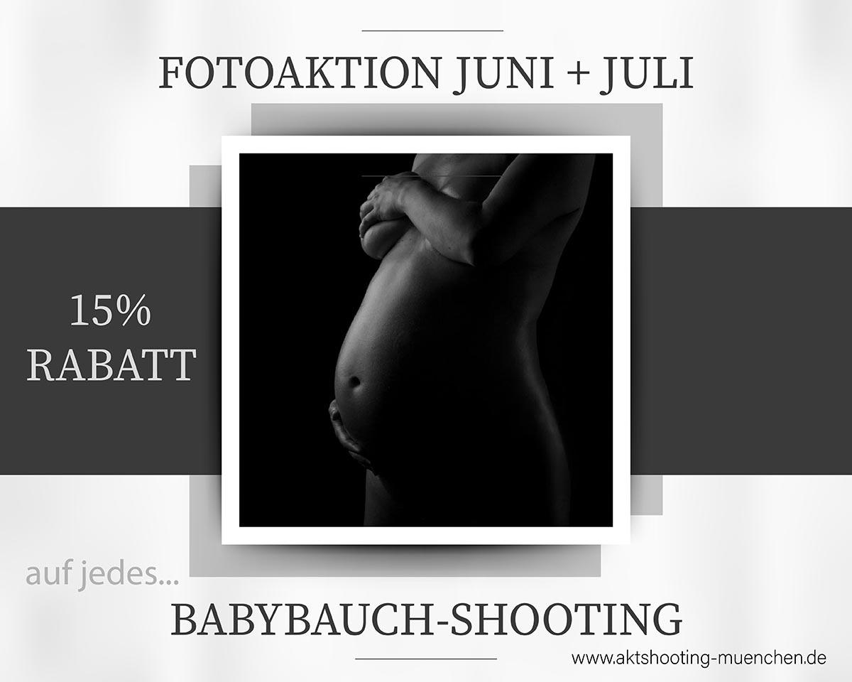 Fotoaktion Babybauchshooting München