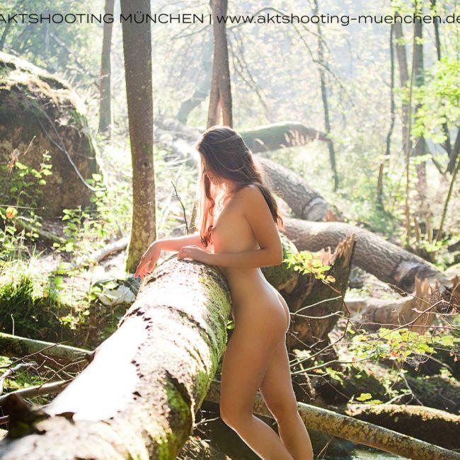 Akt im Wald, Outdoorshooting München