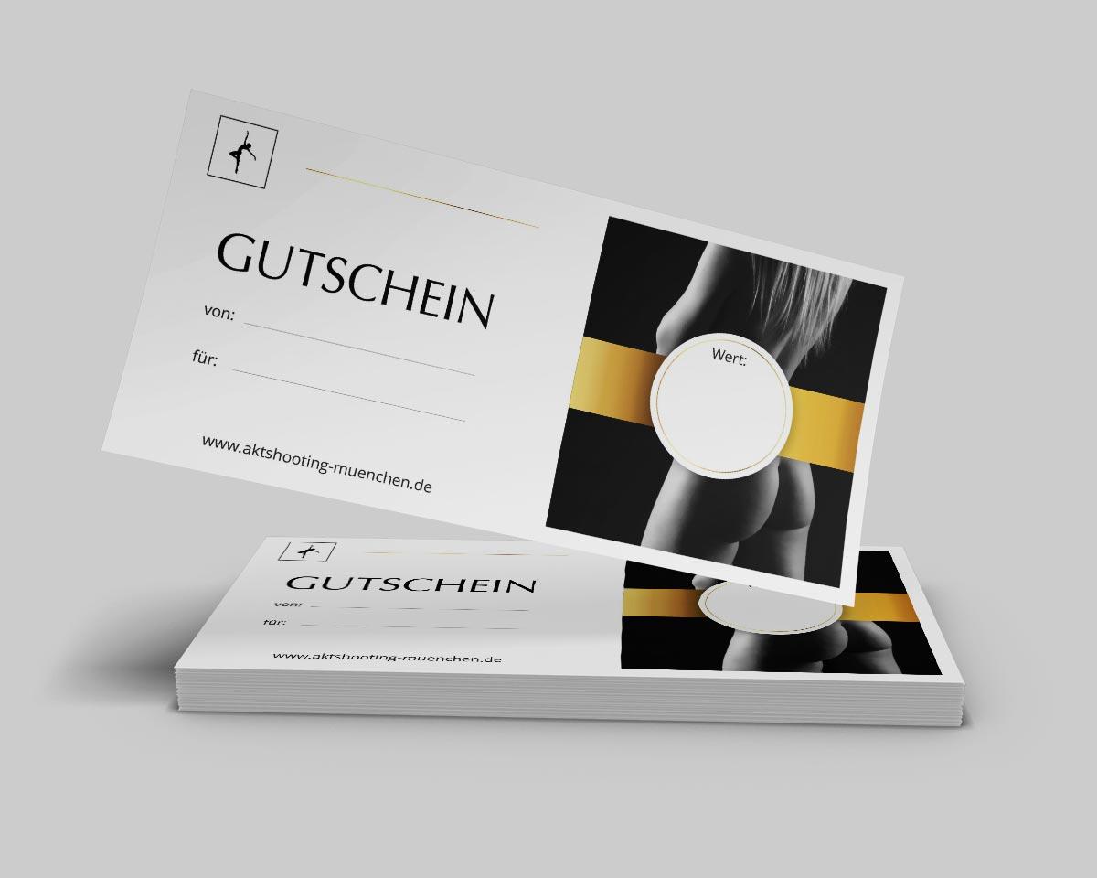 Gutschein Akt Fotoshooting Fotograf München